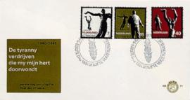 NEDERLAND 1965 FDC E71 OPEN KLEP ++ VOORBEELD SCAN