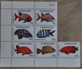NVPH 66-72 VISSEN FISHES POISSON FISCHE
