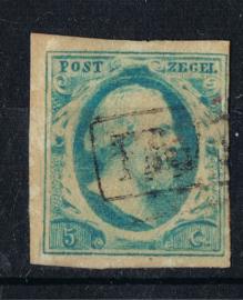 NEDERLAND 1852 NVPH 1 GESTEMPELD ++ P 320