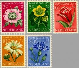 NEDERLAND 1952 NVPH SERIE 583 BLOEMEN FLOWERS