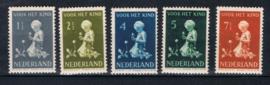 NEDERLAND 1940 NVPH 374-78 PLAK(REST) ++ K 137