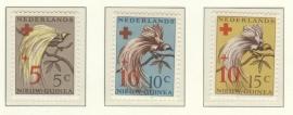 NIEUW GUINEA 1955 NVPH SERIE 38 VOGELS BIRDS RODE KRUIS