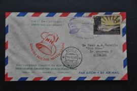 ANTILLEN 1957 FDC E1 ZEGEL IETWAT TROPISCH