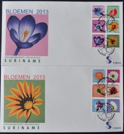 REP. SURINAME ZBL FDC E 363 AB BLOEMEN FLOWERS