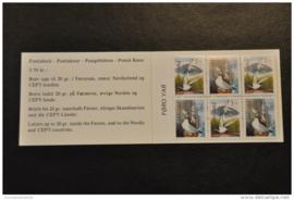 FAROËR 1991 MICHEL SERIE BOEKJE BOOKLET 4 VOGELS BIRDS ++ J 228