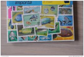 Importa Postzegelpakket 25 vissen ++ 25