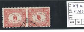 SURINAME 1909 NVPH 59A GEBRUIKT ++ PH