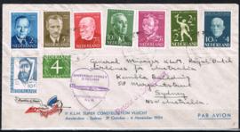 1954 VERSCHILLENDE SERIE'S OP BRIEF NAAR AUSTRALIË