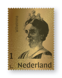 NEDERLAND GOUDEN ZEGEL WILHELMINA  LIMITED EDITION