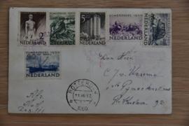 ZOMER 1950 SERIE OP ANSICHTSKAART HAVENTENTOONSTELLING STEMPEL