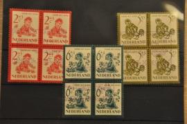 NEDERLAND 1950 NVPH 563-67 GEBRUIKT ++ P 133/34