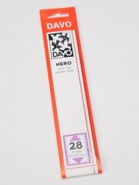 DAVO NERO STROKEN MOUNTS N28 (215 x 32) 25 STK/PCS