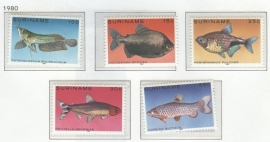 REP. SURINAME 1980 ZBL SERIE 216 VISSEN FISHES