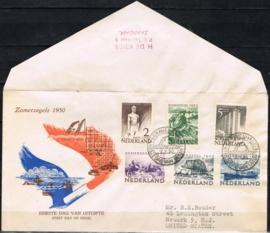 NEDERLAND 1950 FDC E1 OPEN KLEP