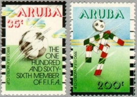 ARUBA 1990 NVPH SERIE 076 WORLD CUP VOETBAL SOCCER FOOTBALL