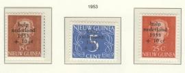 NIEUW GUINEA 1953 NVPH SERIE 22 WATERSNOOD
