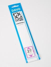 DAVO CRISTAL STROKEN MOUNTS C27 (215 x 31) 25 STK/PCS