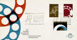 NEDERLAND 1962 FDC E52 OPEN KLEP ++ VOORBEELD SCAN