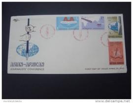1963 FDC ZBL 398-401 JOURNALIST
