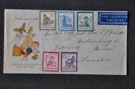 NEDERLAND 1950 FDC E4 KIND OPEN KLEP