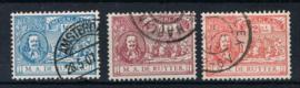 NEDERLAND 1907 NVPH 87-89 GESTEMPELD ++ L 532