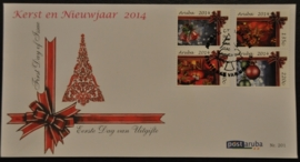 ARUBA 2014 FDC E 201 KERSTMIS