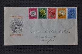 NEDERLAND 1952 FDC E9 ZOMER GESLOTEN KLEP
