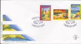 ARUBA 2002 FDC E 103 KINDERZEGELS