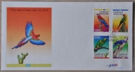 NVPH E008 VOGELS BIRDS OISEAUX PAPEGAAI PARROTS