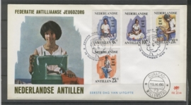 ANTILLEN 1966 FDC E044 KINDERZEGELS