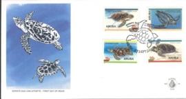 ARUBA 1995 FDC E 059 SCHILDPADDEN