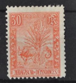 P 253 ++ MADAGASCAR 1903 HINGED PLAKREST