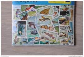 Importa Postzegelpakket 50 vissen ++ 28