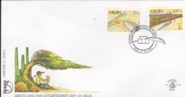 ARUBA 2002 FDC E 101 UPAEP