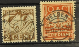 NEDERLAND 1924 NVPH 139-40 GESTEMPELD ++ J 13