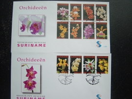 REP. SURINAME ZBL FDC E 300 AB ORCHIDEEËN