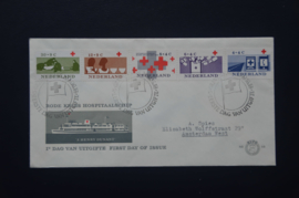 NEDERLAND 1963 FDC E58 GETYPT OPEN KLEP ++ VOORBEELD SCAN