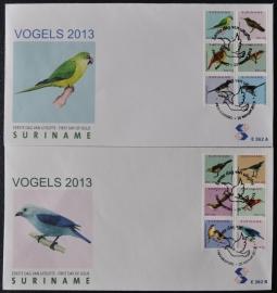 REP. SURINAME ZBL FDC E 362 AB VOGELS BIRDS OISEAUX