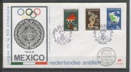 ANTILLEN 1968 FDC E049 OLYMPISCHE SPELEN