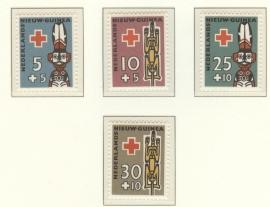NIEUW GUINEA 1958 NVPH SERIE 49 RODE KRUIS RED CROSS