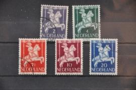NEDERLAND 1946 NVPH 469-73 GEBRUIKT ++ J 69
