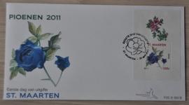 NVPH E003B PIOEN BLOEM FLOWER FLEUR