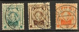 NEDERLAND 1924 NVPH 141-43 GESTEMPELD ++ J 13