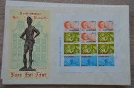 1966 NEDERLAND NVPH FDC KINDERZEGELS BLOK 875 PETTEN