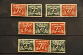 NEDERLAND 1940 NVPH 379A-D PLAK(REST) ++ P 129
