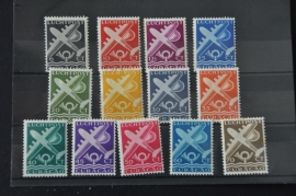 CURAÇAO 1947 NVPH LP 69-81 PLAK(REST) ++ R 127