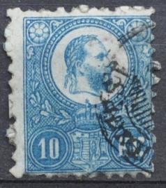 HONGARIJE 1871 MCHL 4(2) GEBRUIKT ++ L 98
