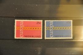 NEDERLAND 1971 NVPH 990-91 ++ P 010A