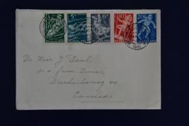 KIND 1948 AMSTERDAM CENTRAAL STEMPEL. BOVEN OPEN