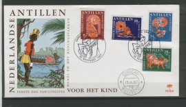 ANTILLEN 1967 FDC E048 KINDERZEGELS